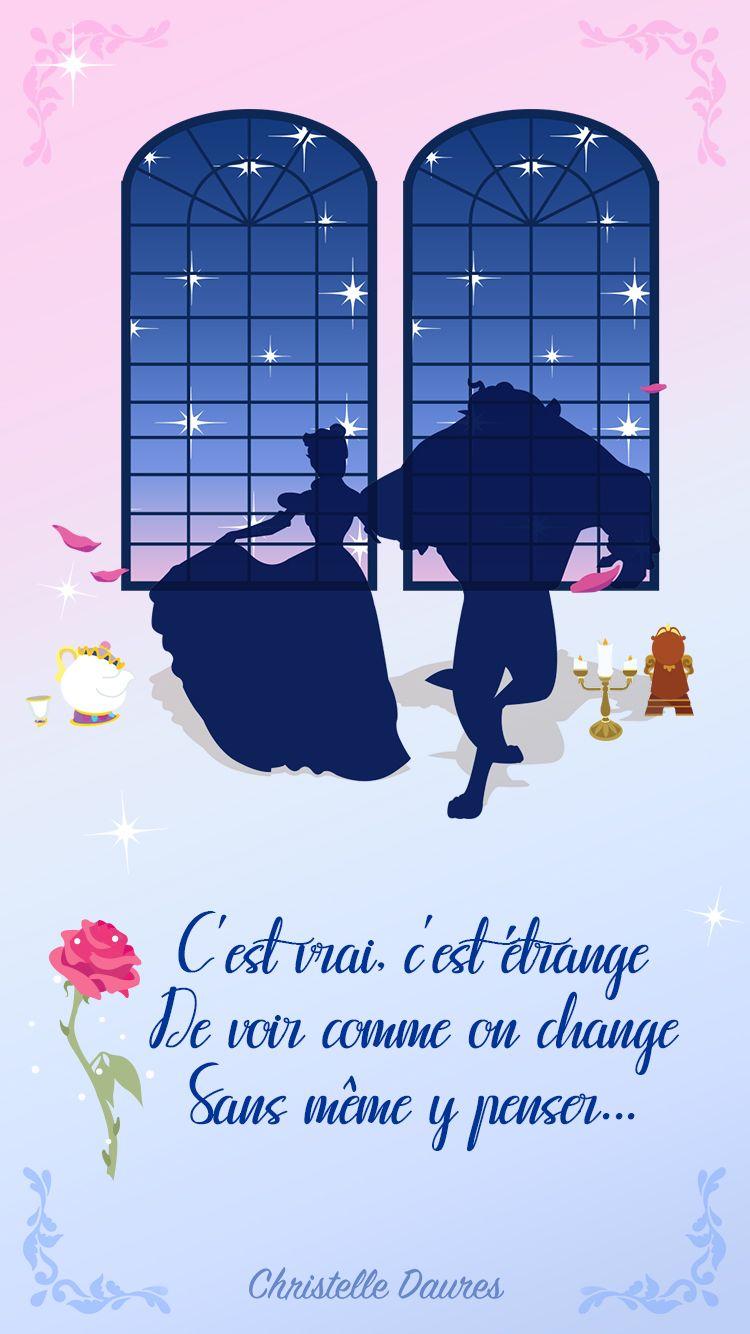 Iphone La Belle Et Bete The Beauty And Beast Disney Wallpaper Crecre Fond D