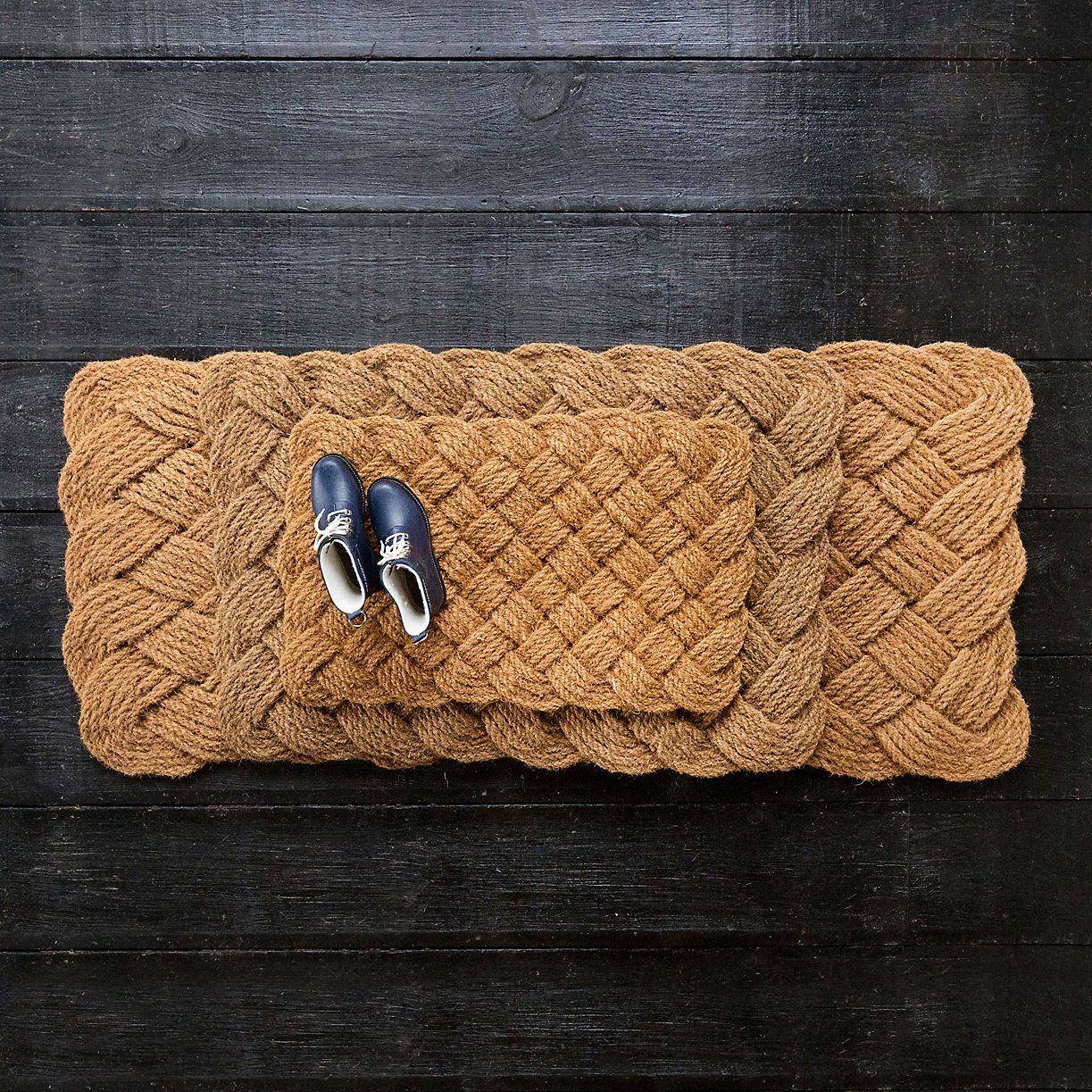 Knot weave doormat coir doormat and porch