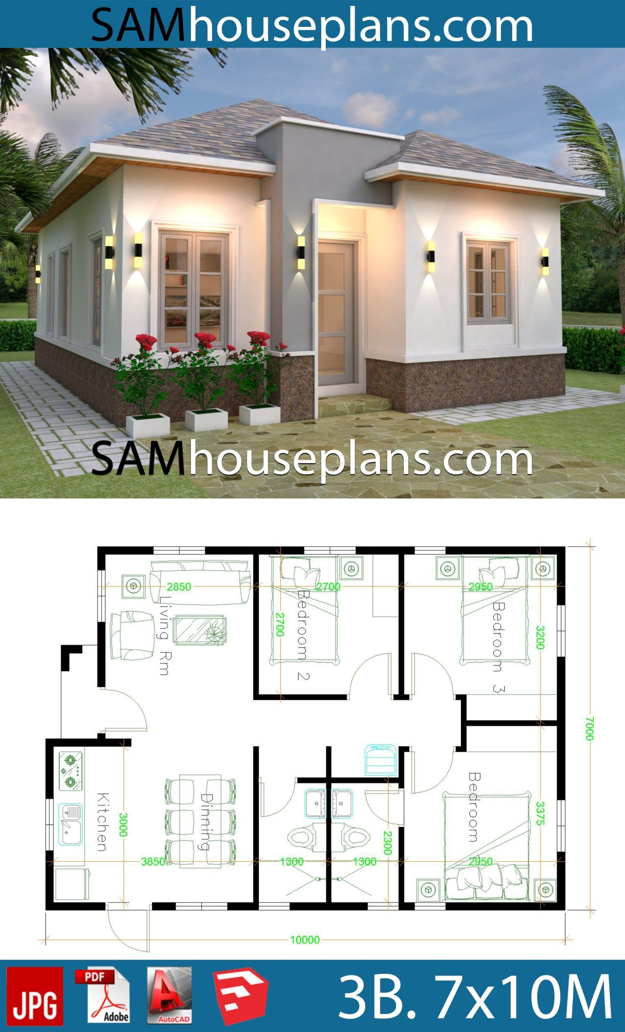House Plans 7x10 With 3 Bedrooms House Plans S House Plan Gallery My House Plans House Construction Plan