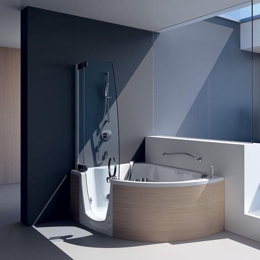 Badkar 383 för hörna med dörr och avskärmning för dusch Made in Italy Bathroom Pinterest