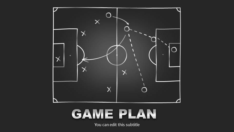 Editable Game Plan Template For Powerpoint  Slide Design