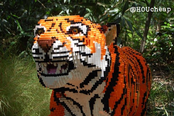 LEGO tiger at Houston Zoo Places I Want to See Pinterest Zoos