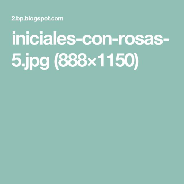 inicialesconrosas5.jpg (888×1150) Poligonos