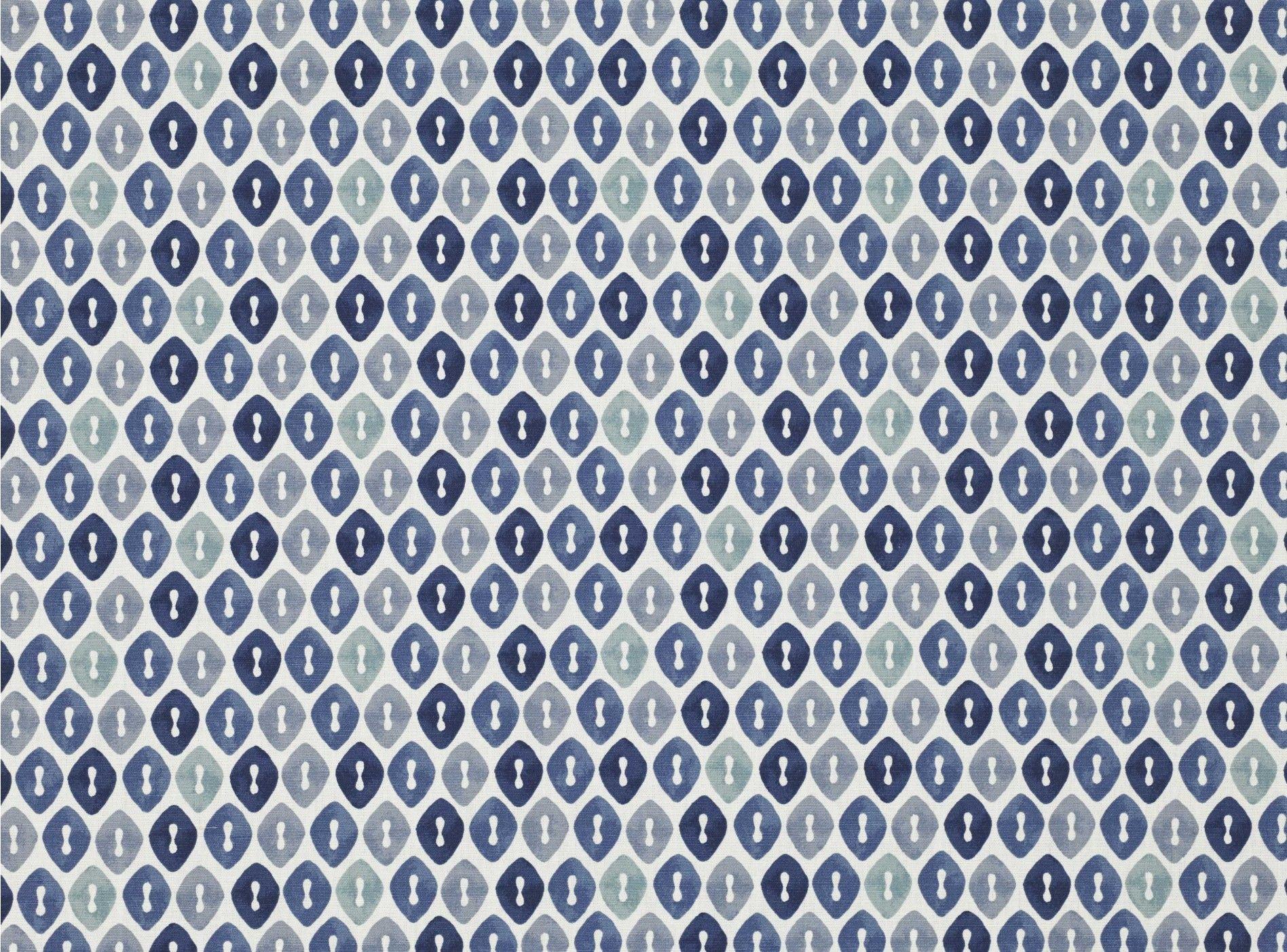 Small Geometric Print Pattern Linen Effect Material Upholstery Curtain Fabrics
