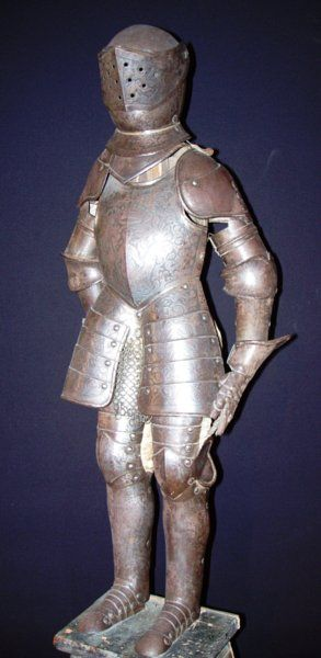 An Antique 19th Century Miniature Suit Of Armour Possibly French