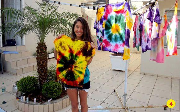 Aprenda a fazer uma camiseta Tie Dye! - Blog da Galera - CAPRICHO