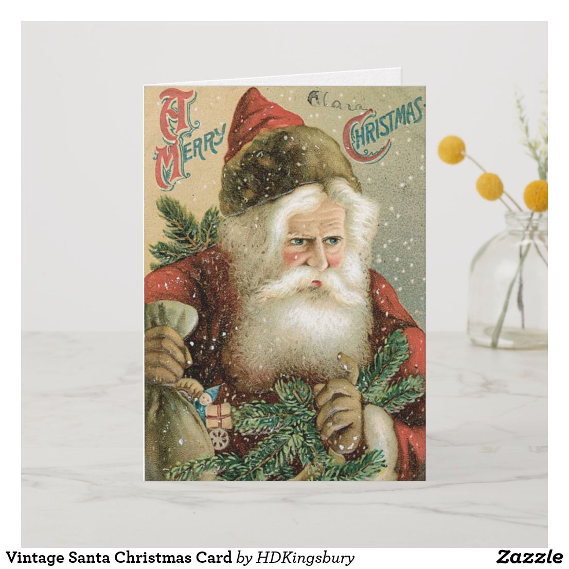 Vintage Santa Christmas Card For Sale Vintagechristmas Santa
