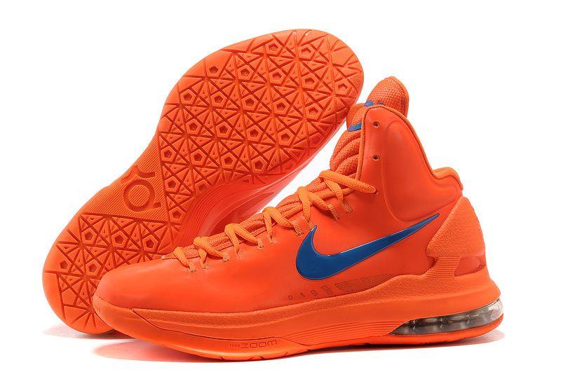 Nike KD 5 (V) Men\u0027s Shoe Orange/Blue Popular Style � Lebron 11Nike ...