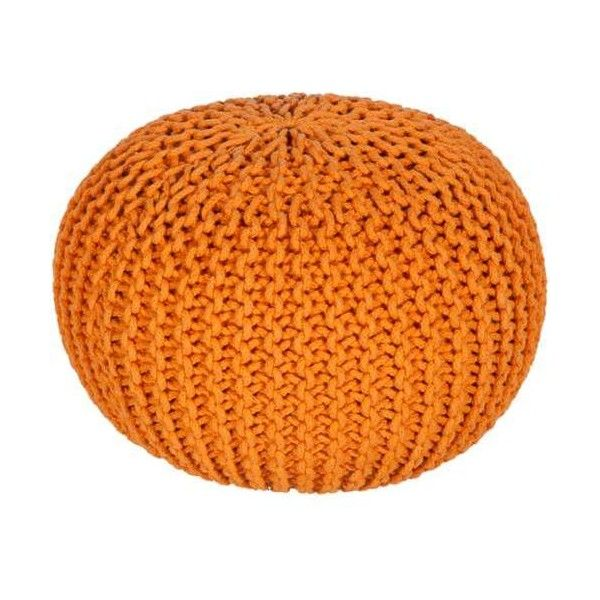 Surya MLPF-005 Indoor Pouf from the Malmo collection Tangerine Home (125 CAD) ❤ liked on Polyvore featuring home, furniture, ottomans, home decor, pillows, poufs, tangerine, handmade furniture, hand made furniture and handcrafted furniture