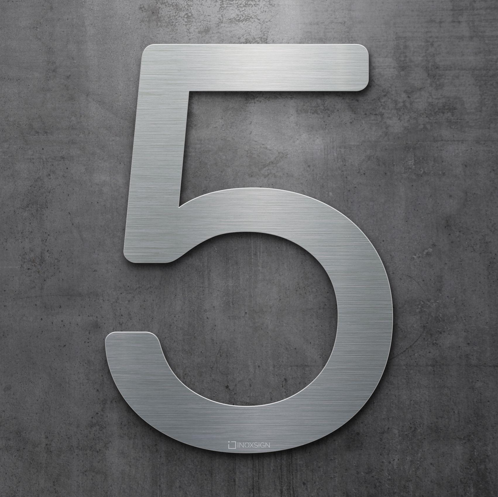 Moderne Hausnummern neu inoxsign edelstahl hausnummer 5 moderne hausnummern aus
