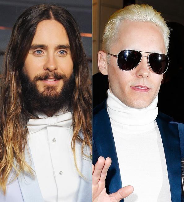 Move Over, Kim Kardashian! Jared Leto Also Debuts Platinum Hair at Balmain  #InStyle