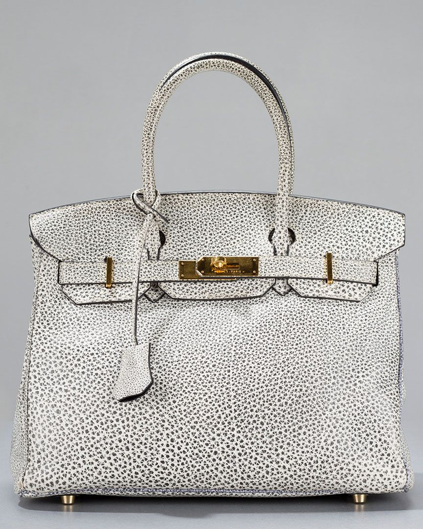 fdb0f8693163 All I want for Christmas (or Chanukah) is an Hermes Dalmatian Buffalo  Leather 30cm Rare Collector s Birkin Bag... only  18000