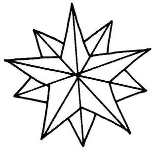 Christmas Ornaments Coloring Pages Star Ornament Coloring Page Christmas Coloring Page For Children Star Coloring Pages Star Clipart Star Illustration