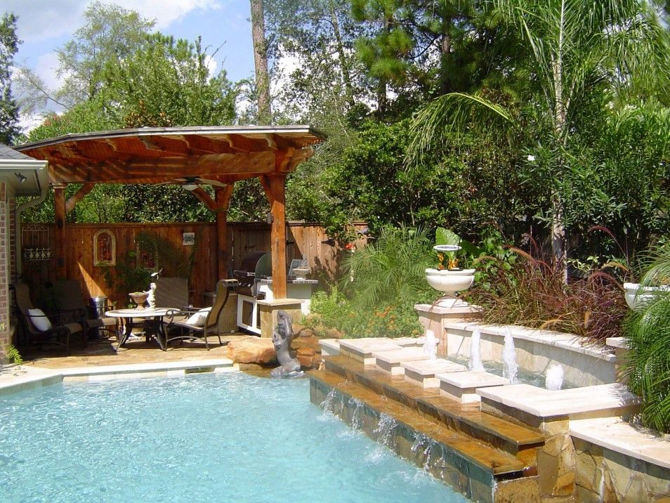 Best Backyard Spa Ideas In The World Backyard Swim Spa On Budget Design  OfTropical Backyard Swimming