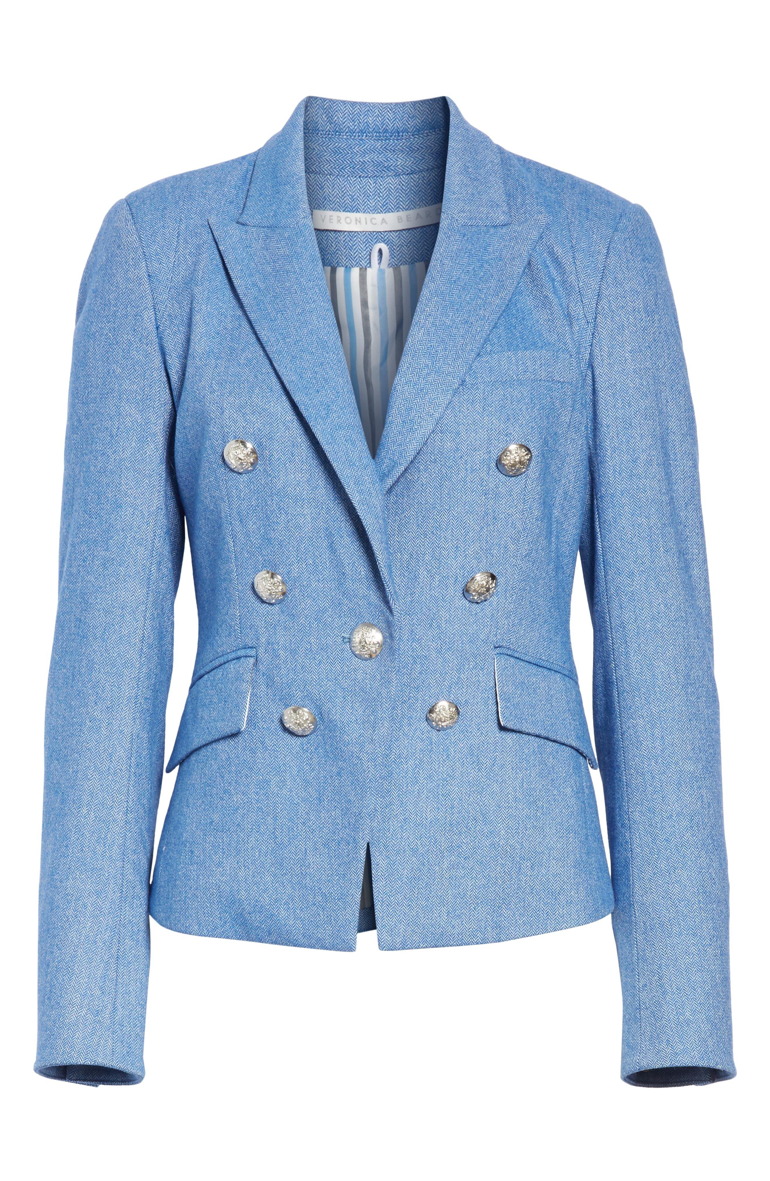 dbebd8e65ad4 Women's Veronica Beard Diego Herringbone Dickey Jacket, Size 14 - Blue