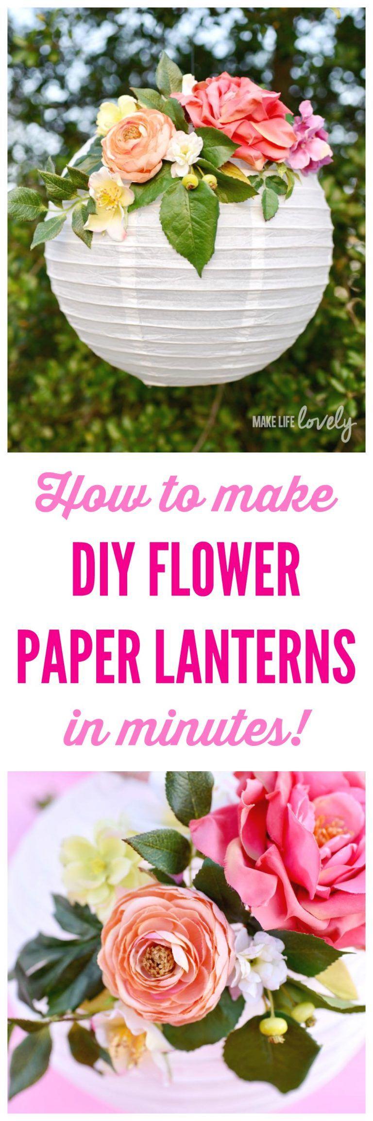 DIY Flower Paper Lanterns Tutorial | Flower paper, Diy flower and ...