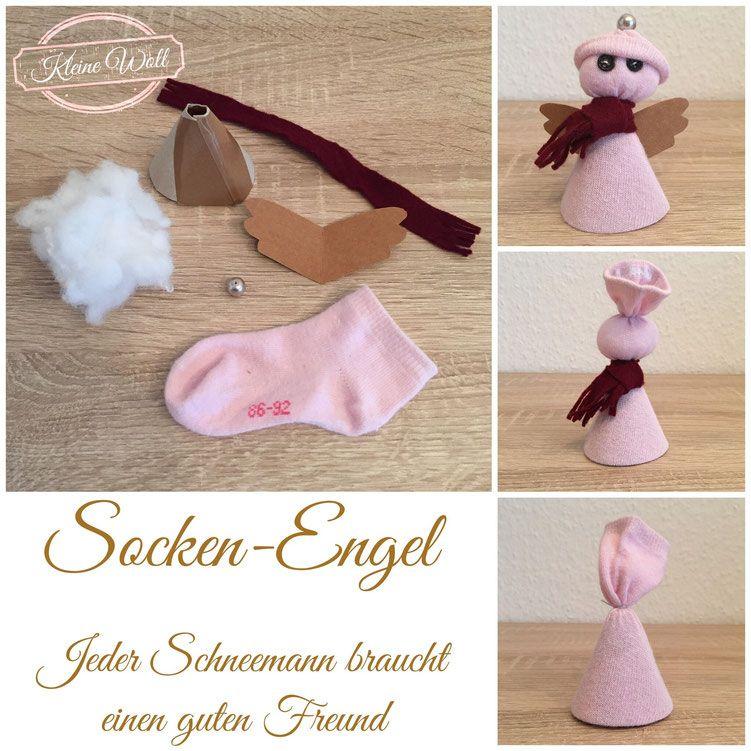 Socken-Engel | Weihnachten | Pinterest | Nähanleitung, Engelchen und ...