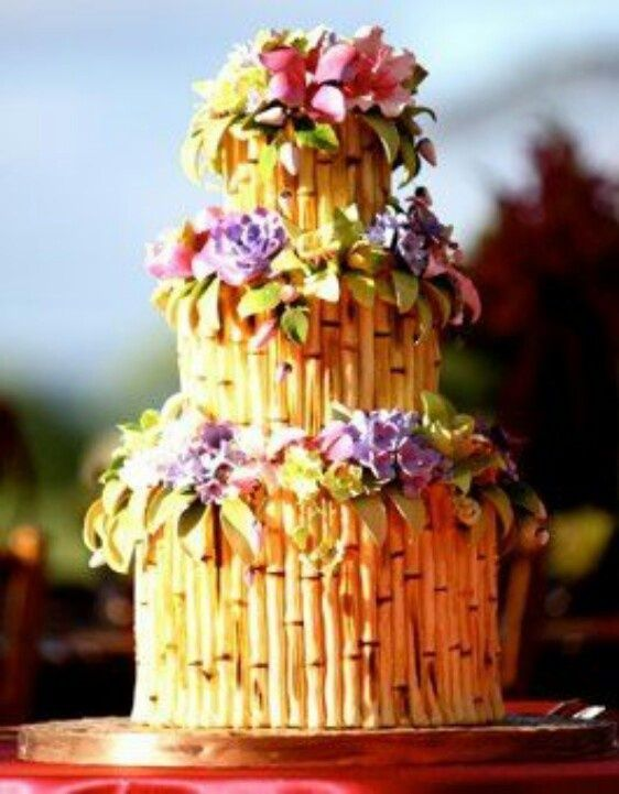 Tropical Bamboo Cake | ✿♥✿ Let Them Eat Cake ! ✿♥✿ | Pinterest ...