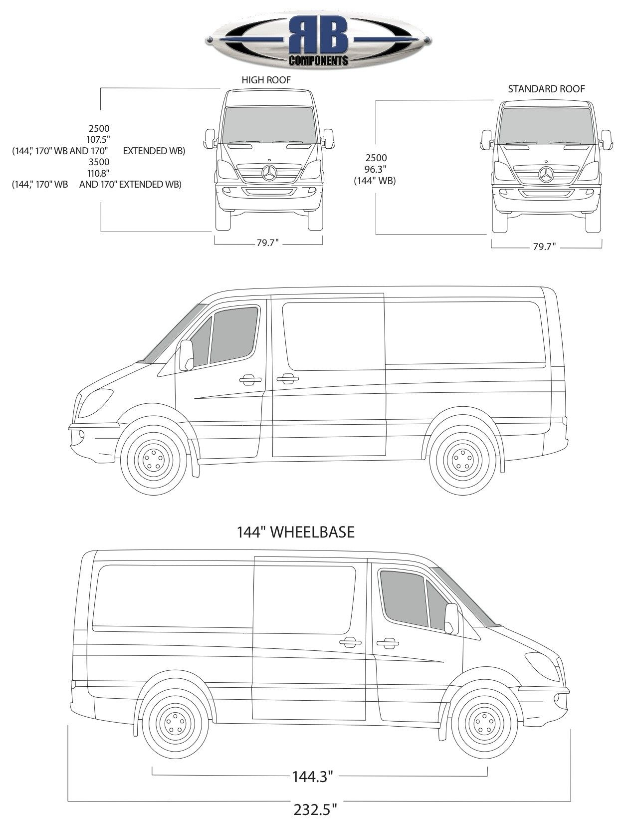 Sprinter Floorplan Templates 144 170 170 Ext