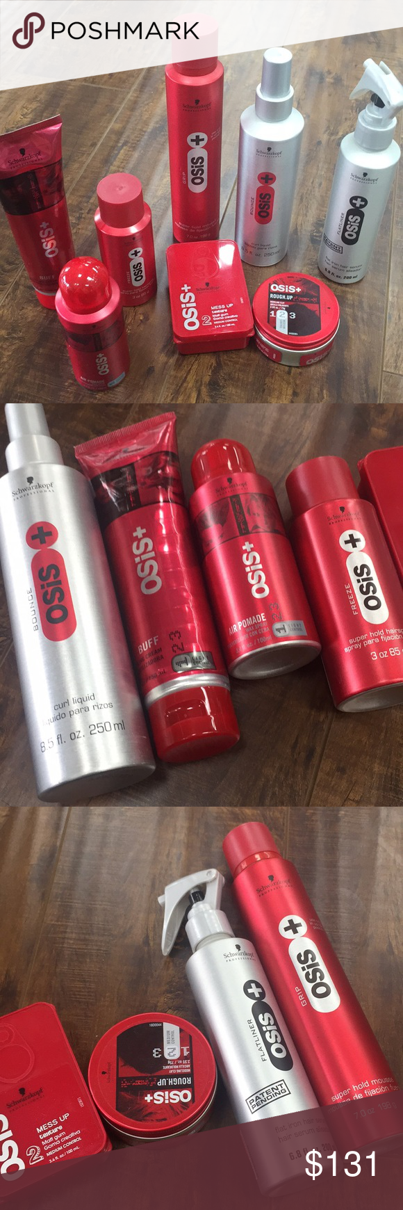 Schwartzkop Osis Bundle all items are brand New authentic never opened including Styling Cream,Mousse,wax spray ,super hold hair spray,texture matt gum, modeling clay, curl liquid,flat iron serum all products are New No lowballing thanks osis Other