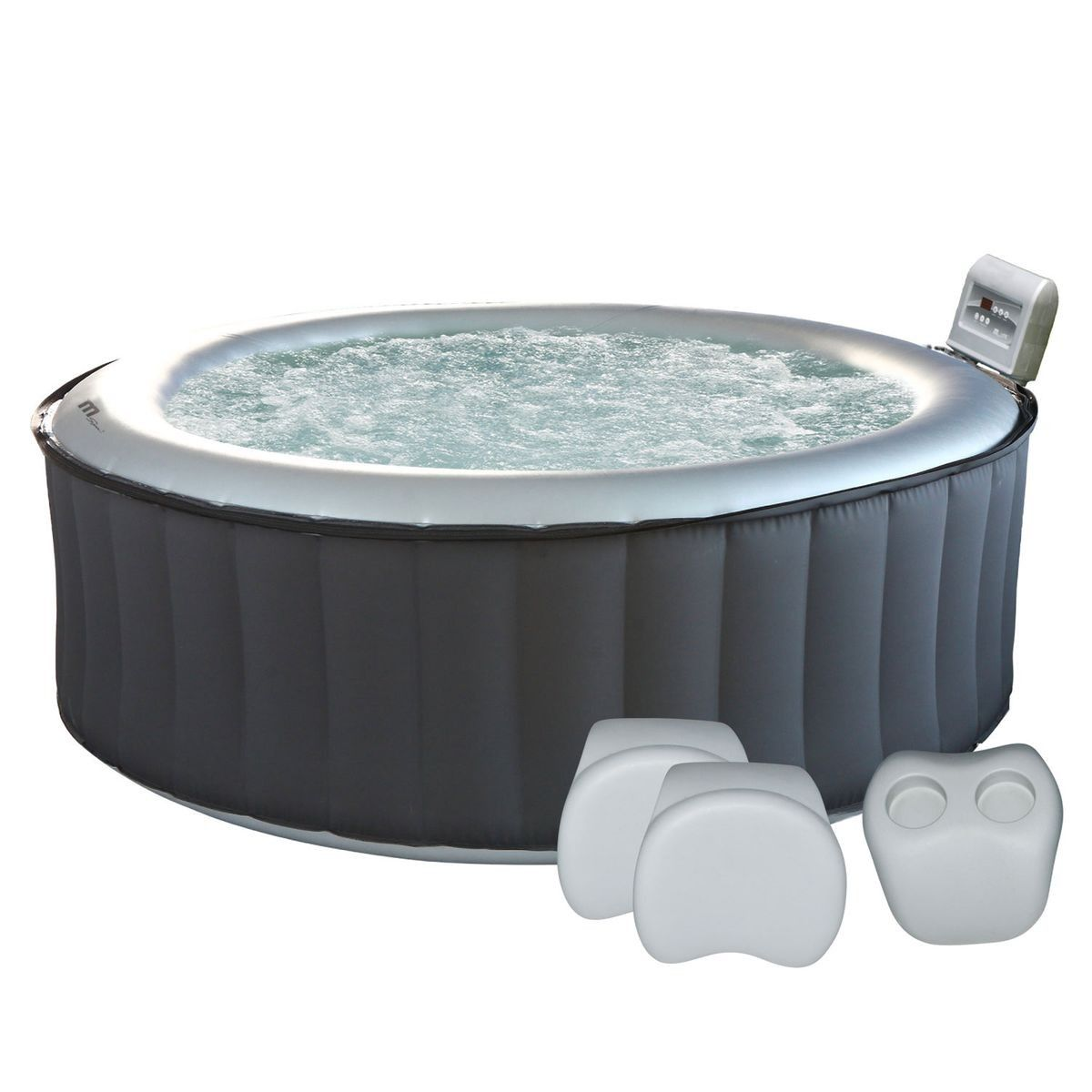 Pack Spa Gonflable Rond O205cm Silver Cloud 6 Places Taille Taille Unique Spa Gonflable Gonflable Et Jacuzzi Gonflable