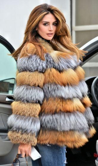 Genuine Mink Fur Coat women multi-color jacket Waistcoat Outwear Winter Coat