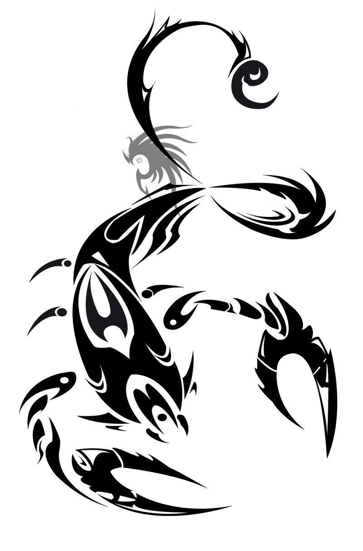 Scorpio tattoo scorpions pinterest tatouages de for Dessin minimaliste