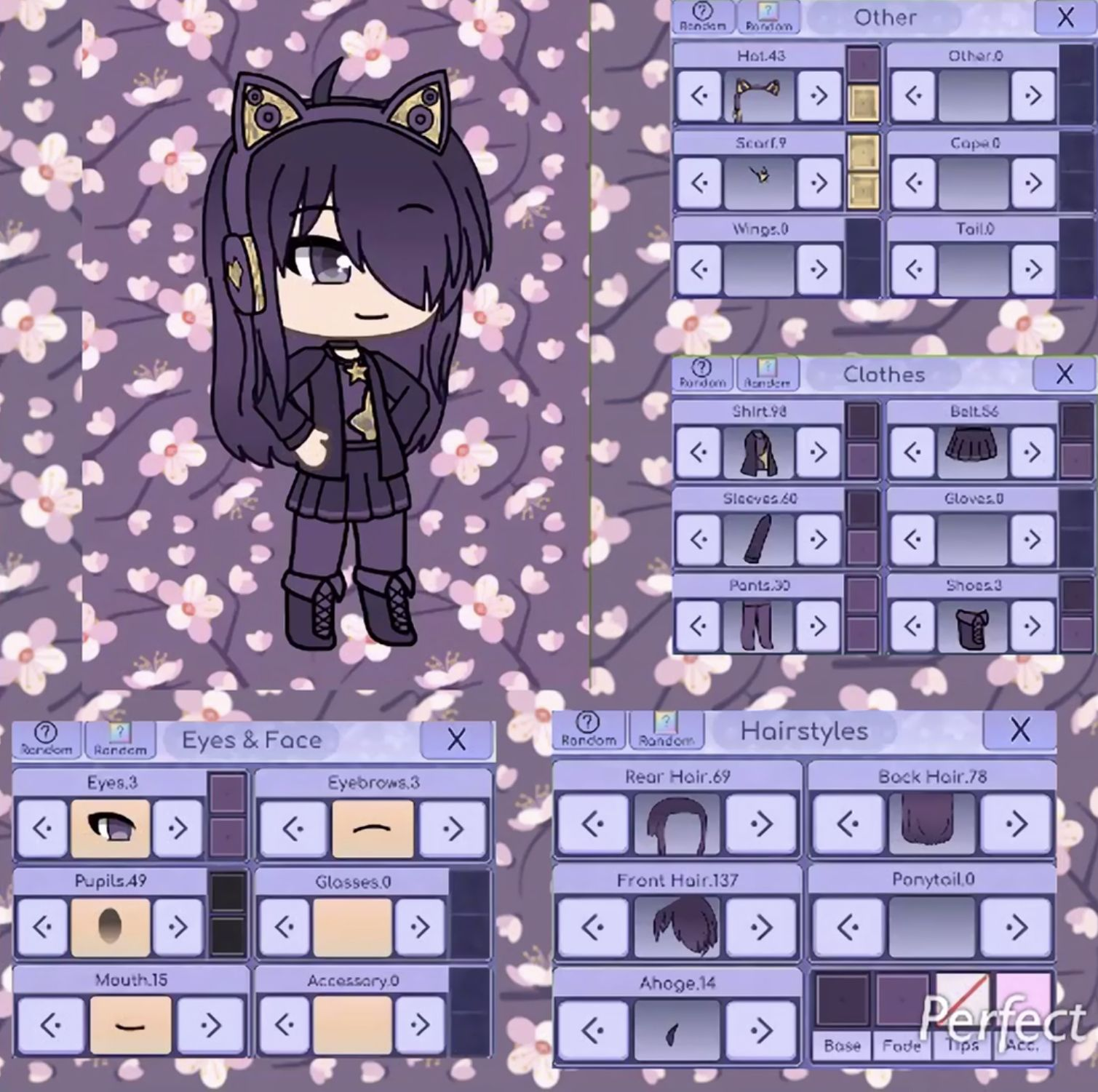 I Did A Green Screen With It That Is Why You Can Barley See The Numbers Sorry About That Anime Outfits Cute Anime Chibi Character Design