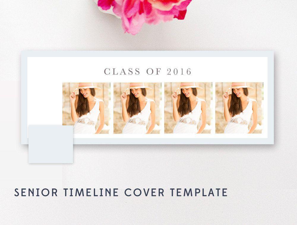 Senior Facebook Timeline Template - Photoshop Template - Senior - etsy banner template