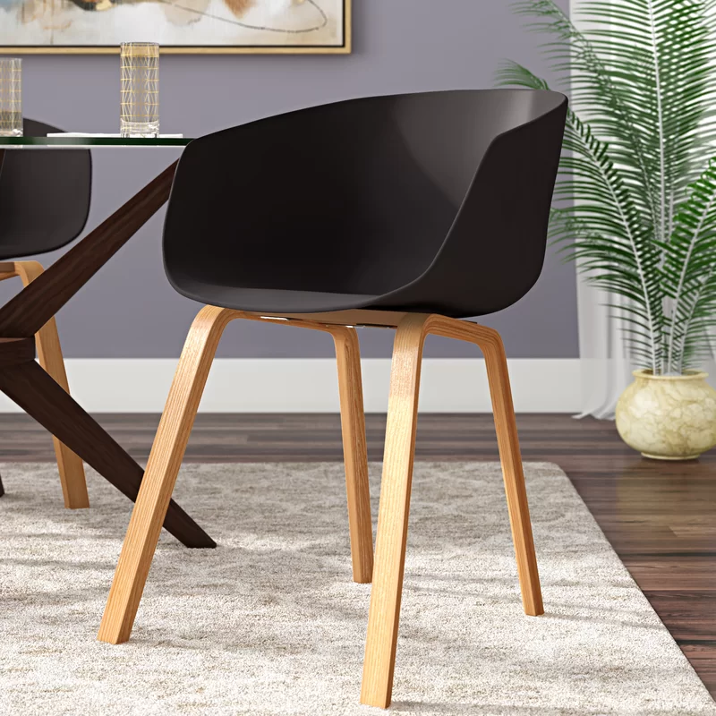 George Oliver Dan Dining Chair Wayfair In 2020 Dining Chairs Solid Wood Dining Chairs Mid Century Modern Side Chairs