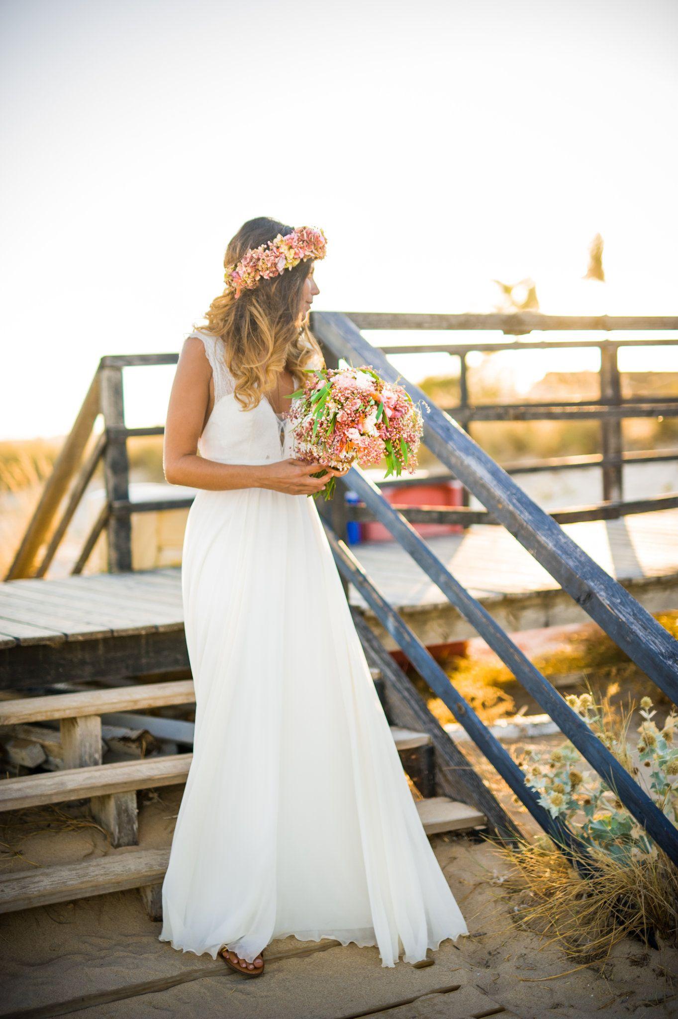 Wedding dresses beach  BohoBeach wedding dress by Joana Montez  My brides  Pinterest