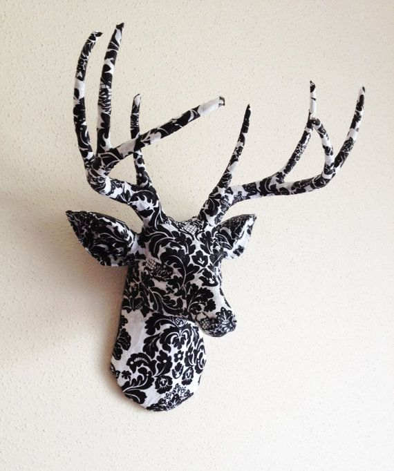 Damask Deer Head Wall Mount