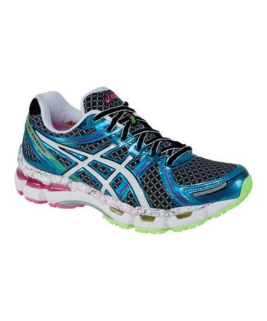 34f1a3a8f9eb Take a look at this Black   Flash Pink GEL®-Kayano 19 Running Shoe - Women  by ASICS on  zulily today!