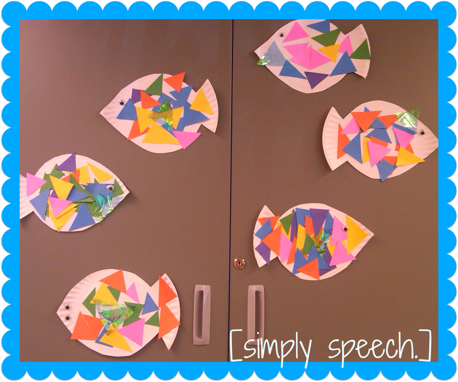 Rainbow Fish With Triangle Scales Simply Speech