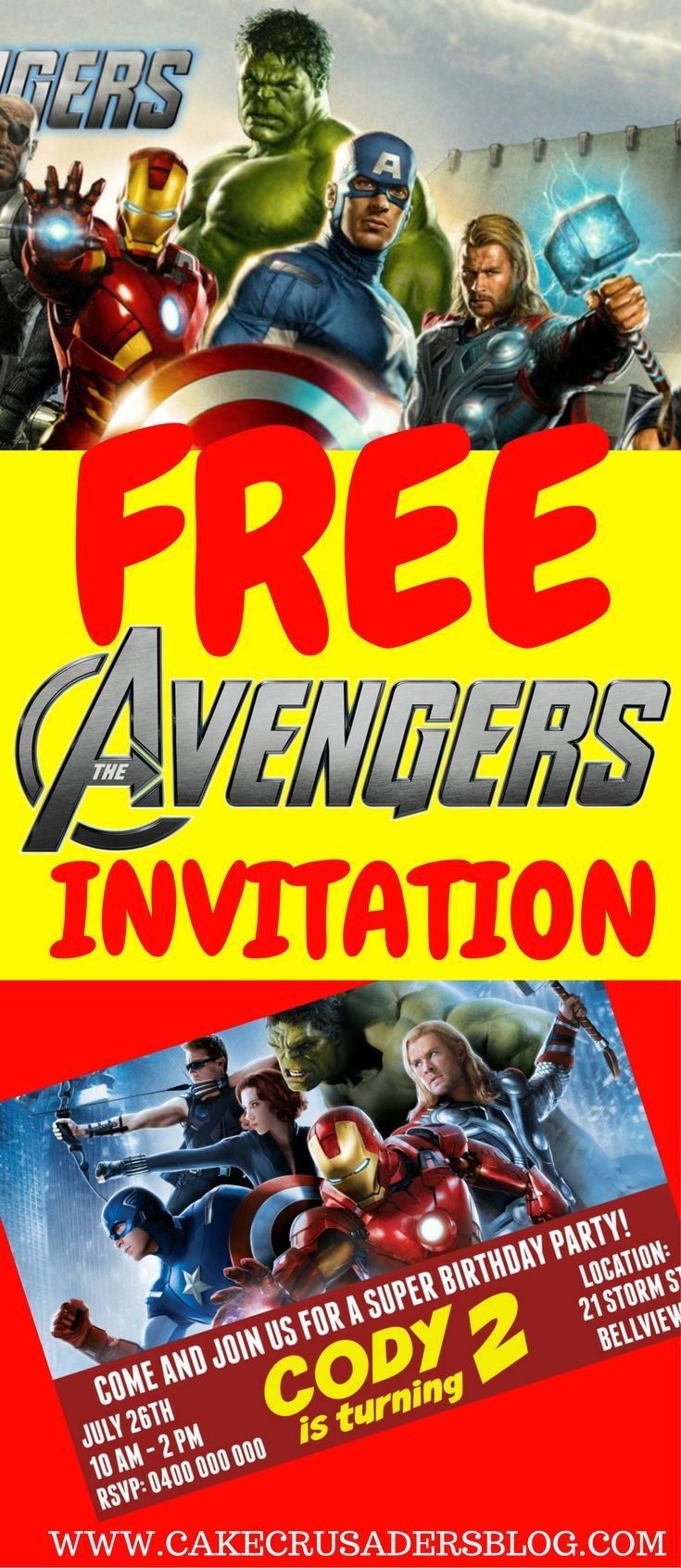 free diy avengers party invitation template