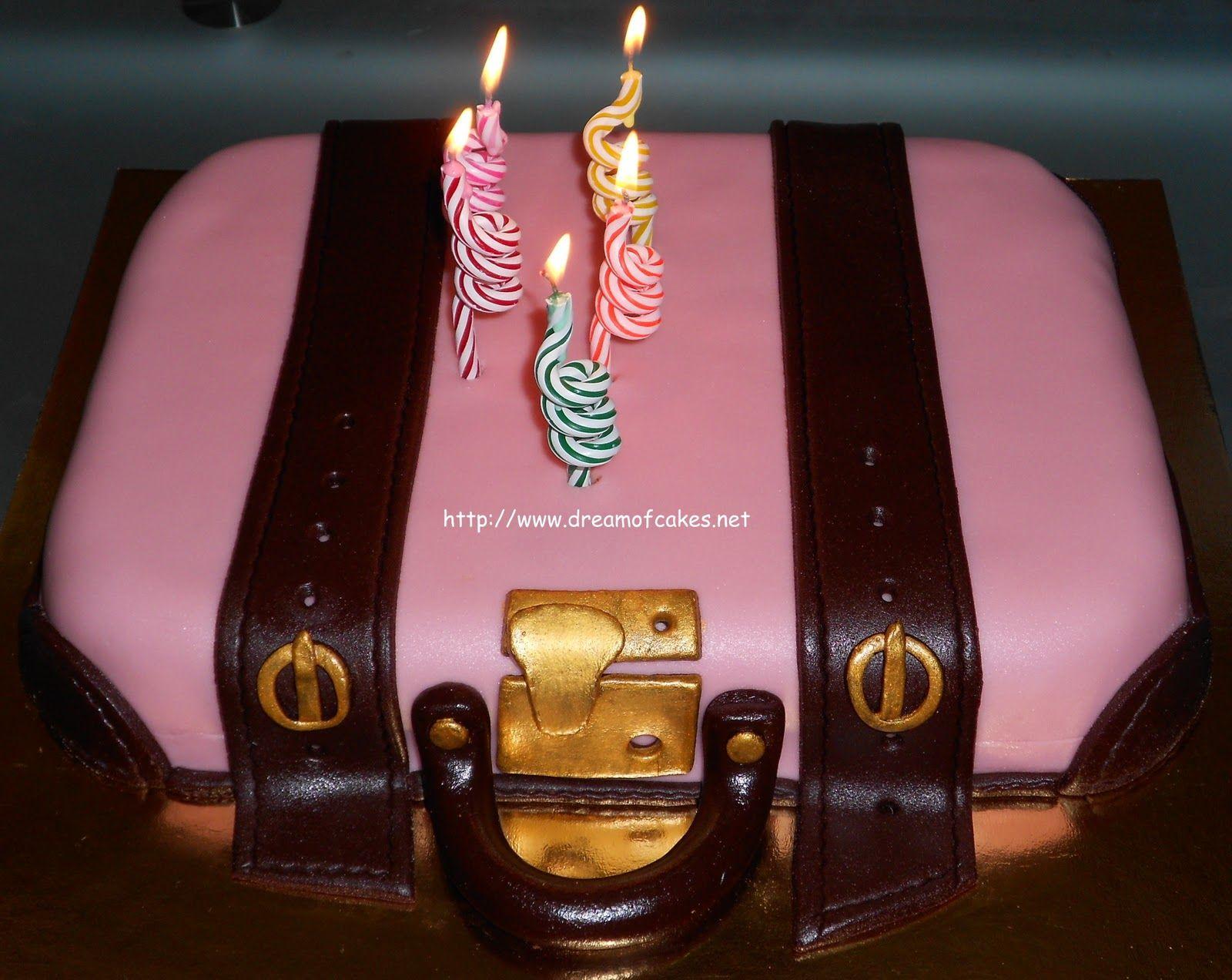 Pink Suitcase Birthday Cake Amazing Cakes Pinterest Birthday