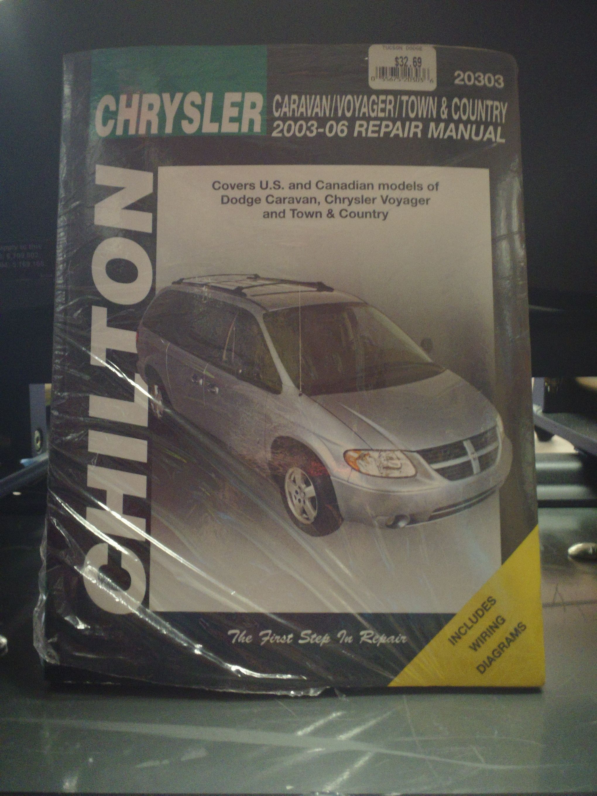 Chilton Manual For 2003-2006 Caravan, Voyager, Town & Country... Come on in  to Tucson Dodge at 4220 E 22nd St. SW Corner of 22nd & Columbus...or call  ...