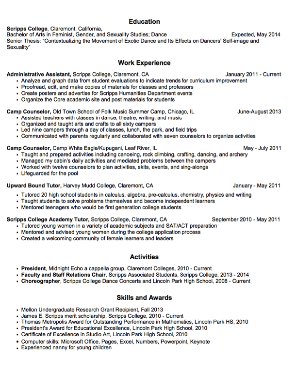sample camp counselor resume example http exampleresumecv org