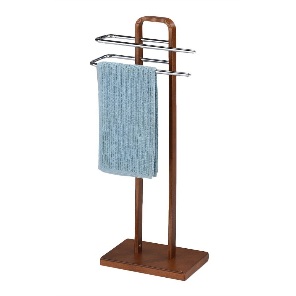 This towel quilt rack features two chrome bars to store your ...
