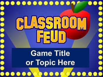 classroom feud powerpoint template plays like family feud history class wwi and family feud. Black Bedroom Furniture Sets. Home Design Ideas