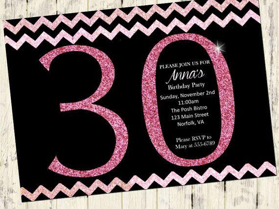 Free Printable 30th Birthday Party Invitation Templates – Free Printable 30th Birthday Invitations