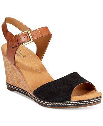 b0883aba1de Clarks Collection Women s Helio Jet Wedge Sandals - Sandals - Shoes -  Macy s Sandalias De Cuña