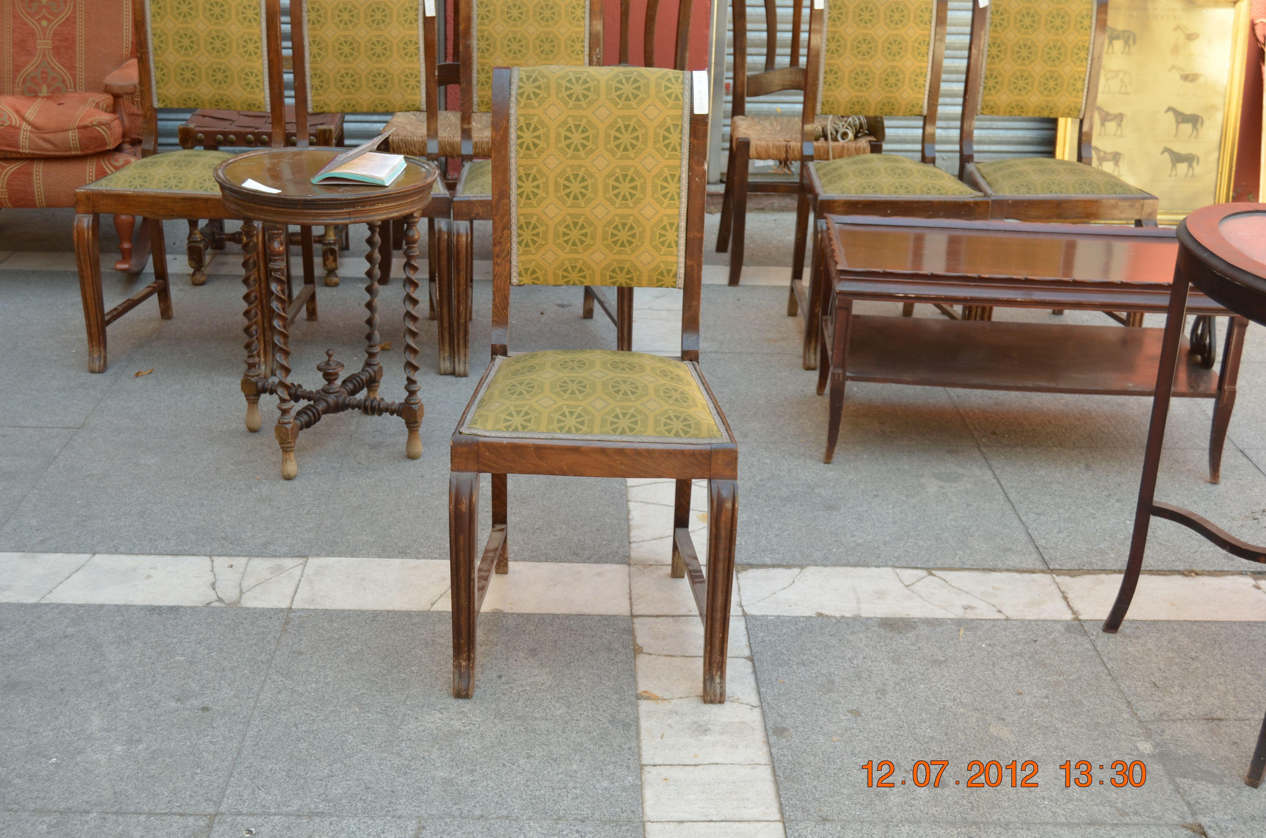 juego de seis sillas $350