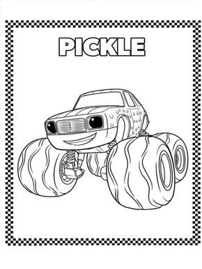 blaze monster machine coloring pages - blaze and the monster machines coloring pages monsters