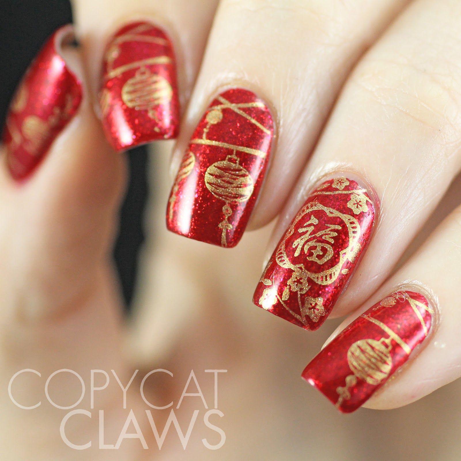 Chinese New Year manicure chinesenewyear rednails