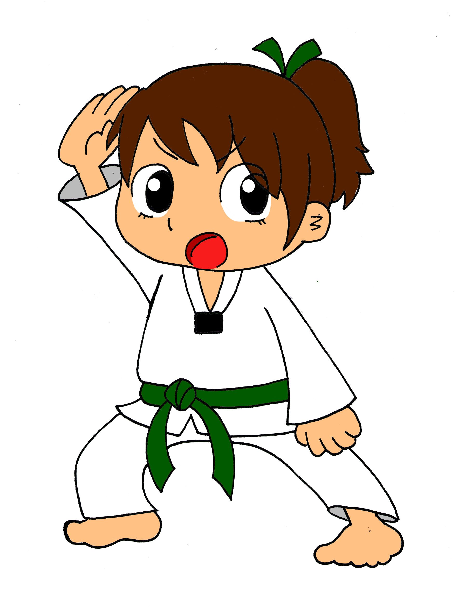 it s marlee only she wouldn t be caught dead with a bow in her hair rh pinterest co uk karate clipart free karate clip art free