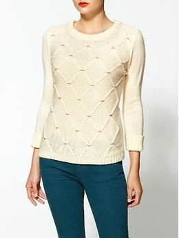 Tulle 3/4 Sleeve Sweater | Piperlime