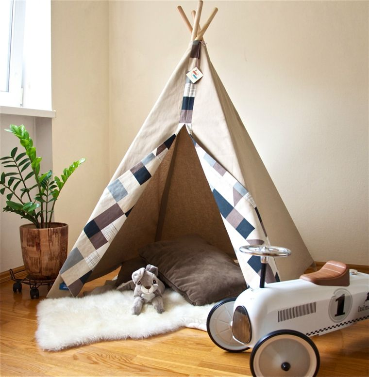 fabriquer un tipi pour enfant projet facile faire soi m me pour kat pinterest. Black Bedroom Furniture Sets. Home Design Ideas