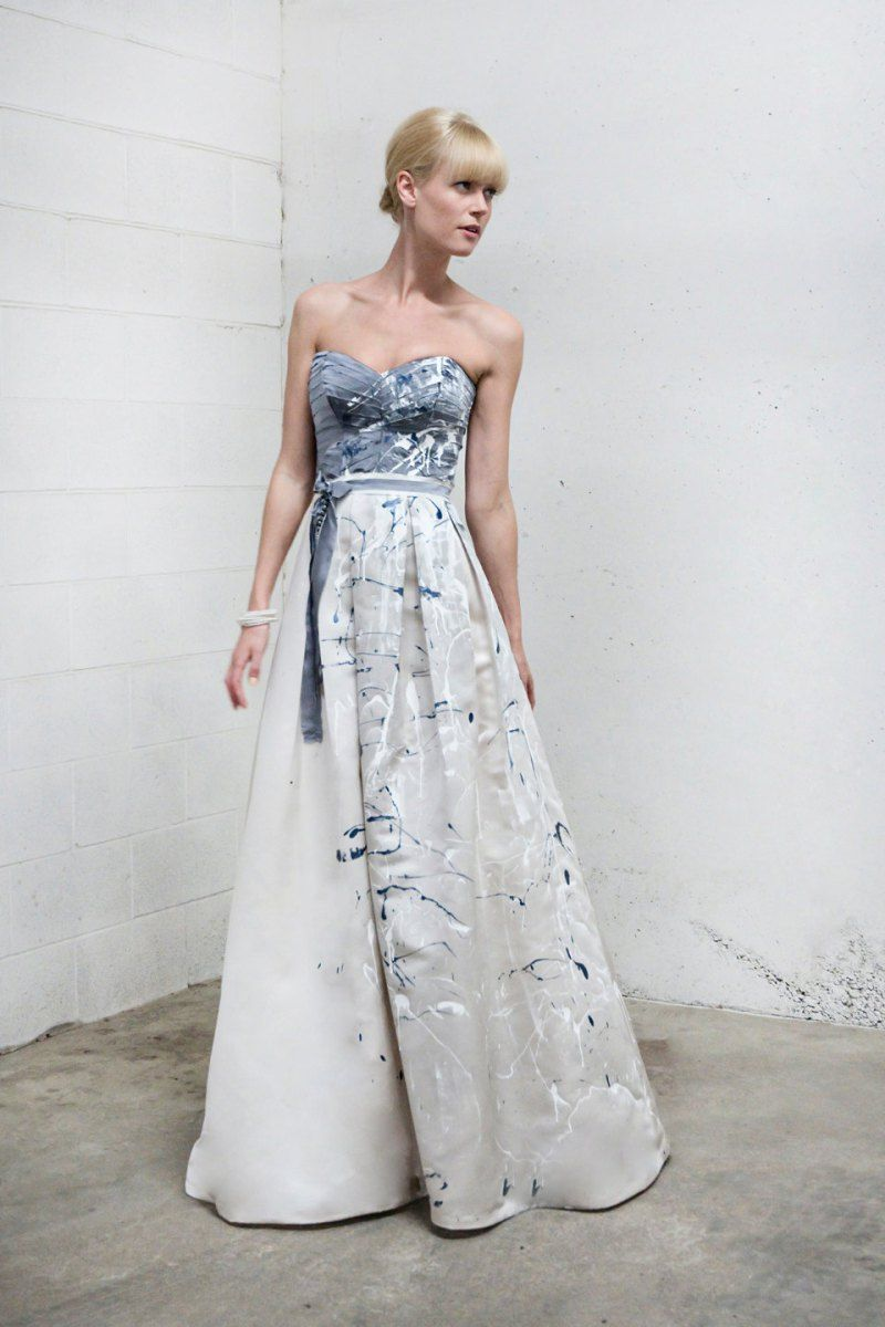 The 8 Wedding Dresses On Etsy That I M Obsessed With Painted Wedding Dress Alternative Wedding Dresses Luxe Wedding Dress