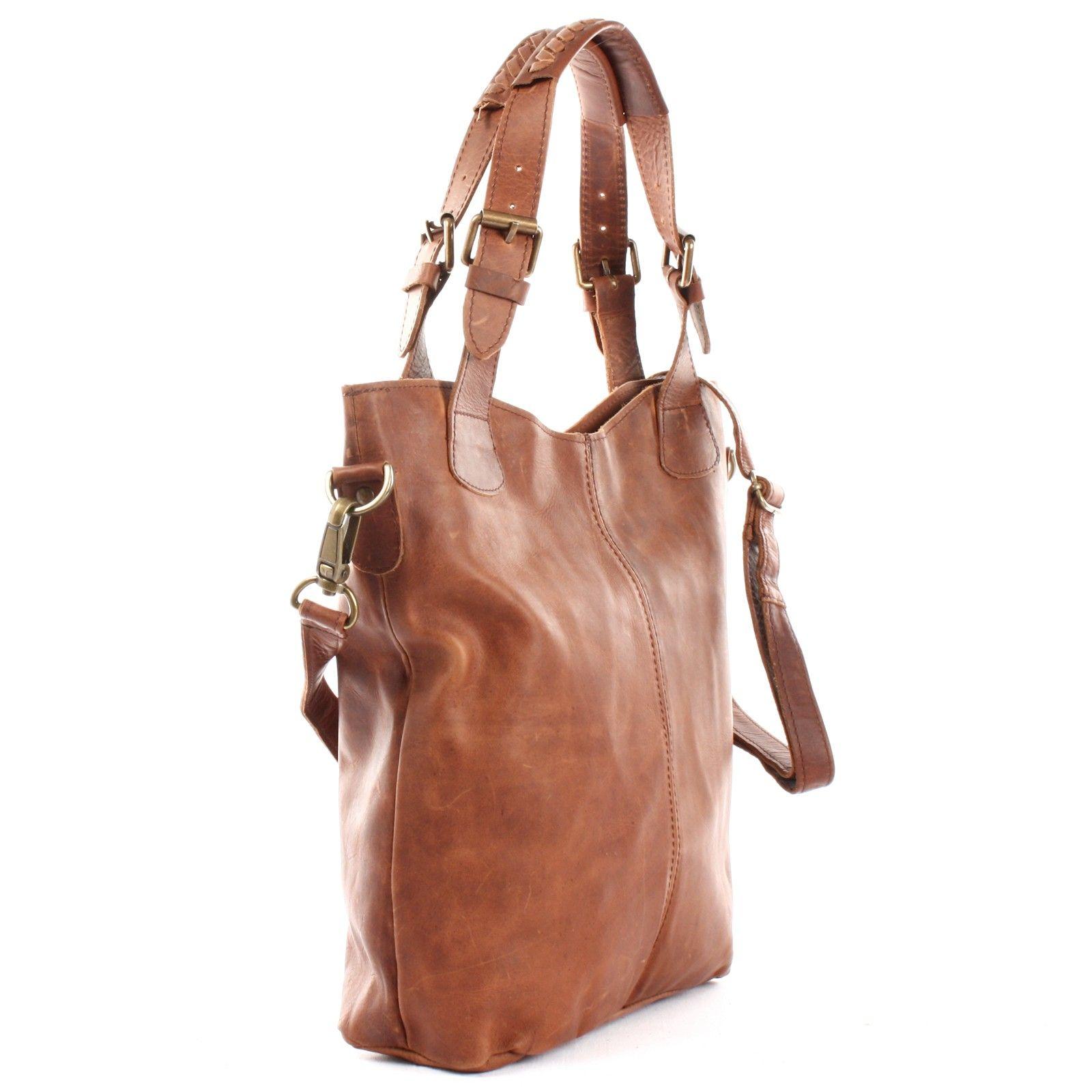 daddc565ea0742 Umhängetasche Shopper Leder braun LE0054 | Mode: Handtaschen ...